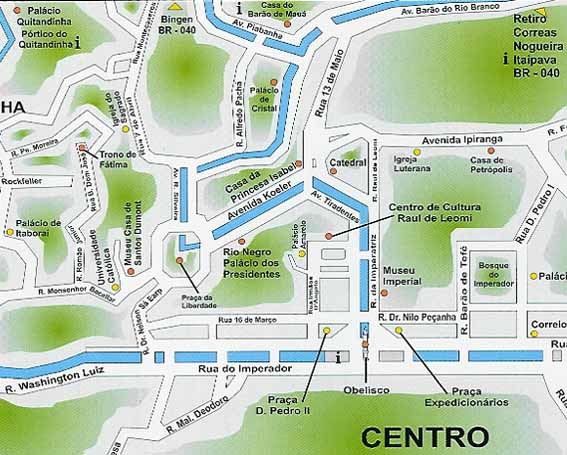 Petropolis tourist map