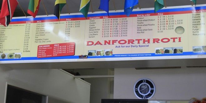 Danforth Roti Shop review : Cheap, Downtown and Decent