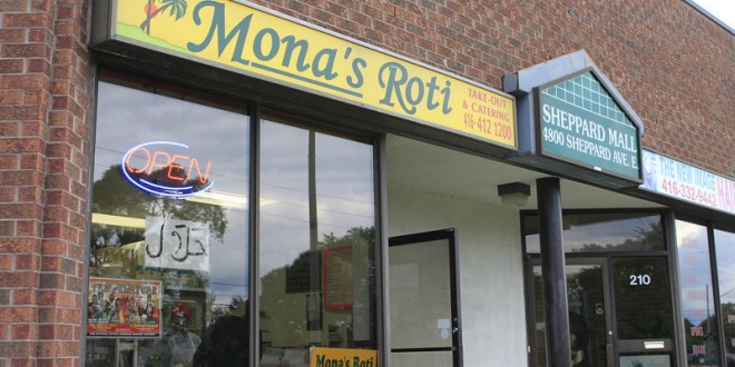 Mona's Roti Shop review : Highly average in Scarborough