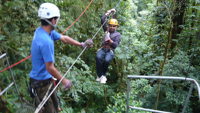 Zip-lining over Monteverde Cloud Forest …