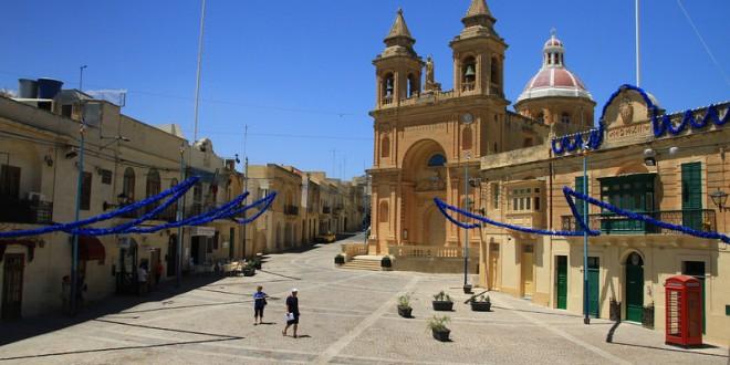 Having fish and chips in Marsaxlokk, Malta